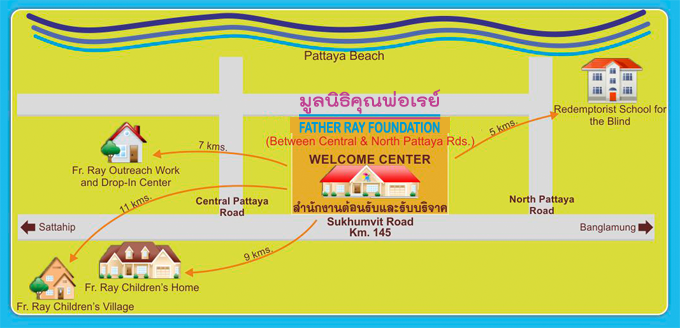 Father Ray Foundation Map